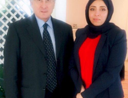 H.E. Asmahan Altoqi meets H.E. Mario Boffo